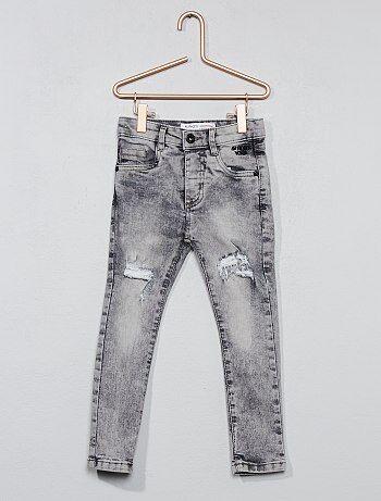 Jeans destroy effetto delavé stretch - Kiabi