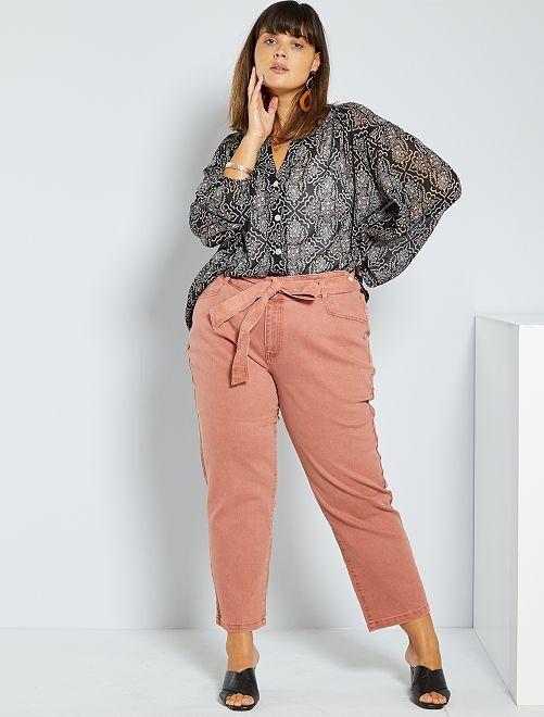 Jeans dritti colorati                                                                 fucsia