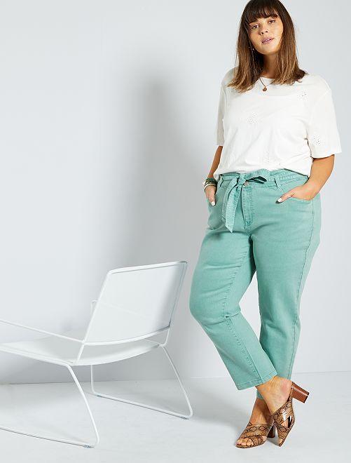 Jeans dritti colorati                                                                 VERDE