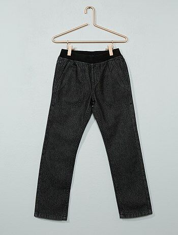 Jeans dritti elastico in vita - Kiabi