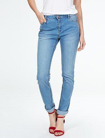 Jeans dritti vita molto alta - Lunghezza US32