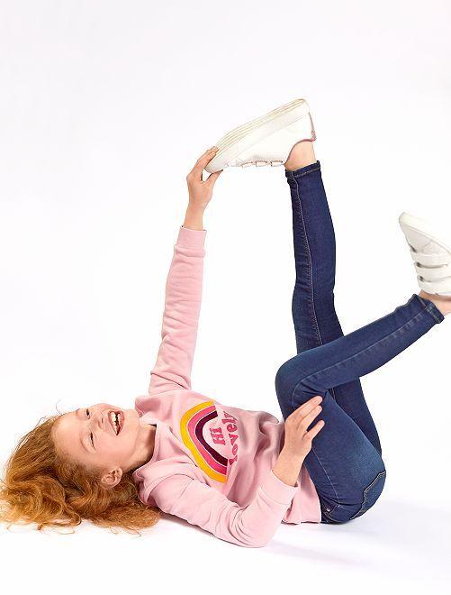Jeans eco-sostenibili Bambino di corporatura esile                             BLU