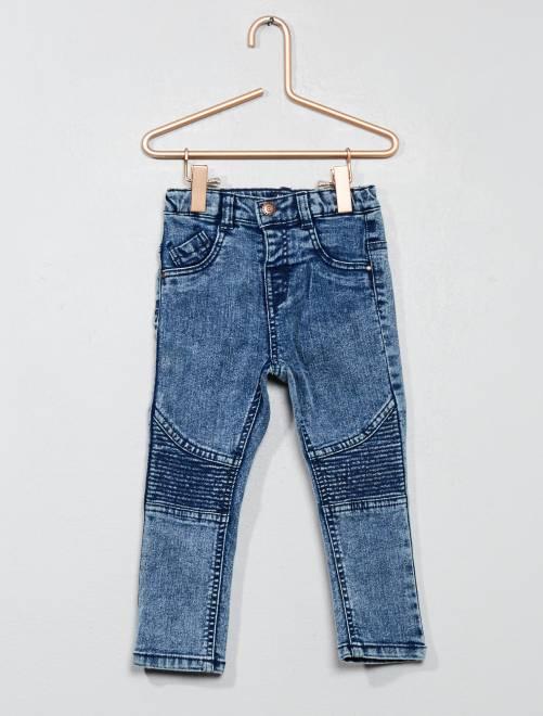 Jeans effetto motociclista                                         BLU Neonato