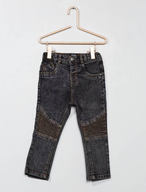 Jeans effetto motociclista                                         NERO Neonato