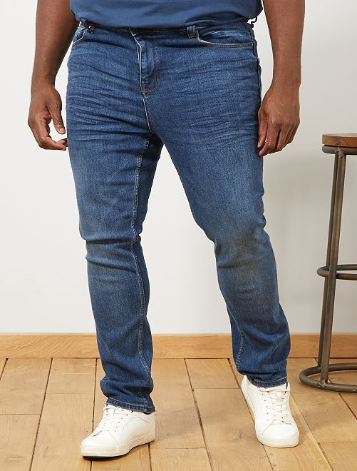 Jeans fitted                                         BIANCO Taglie forti uomo