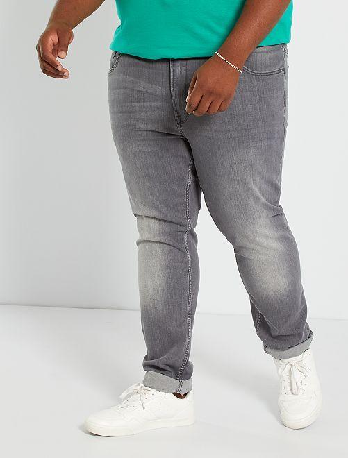 Jeans fitted eco-sostenibili                                                                             GRIGIO