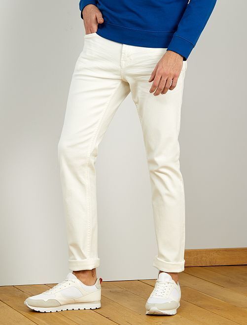 Jeans fitted L36 + 1 m 90                             bianco