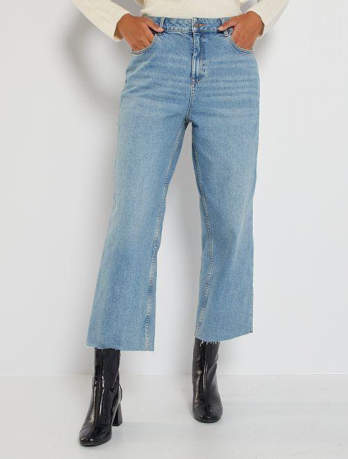 Jeans larghi 7/8                     BLU