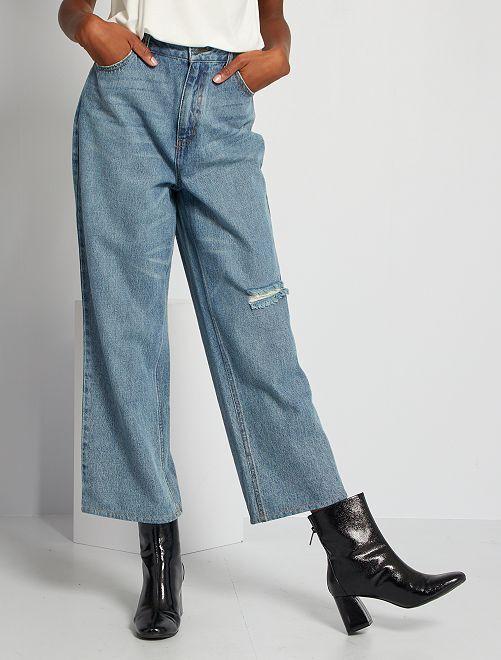 Jeans larghi                                         BLU