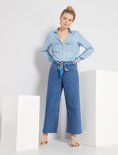 Jeans larghi cintura fantasia 'JDY'                             denim