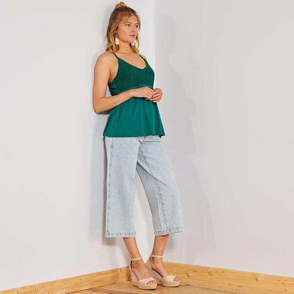 economico per lo sconto c951b e68b0 Jeans larghi taglio cropped