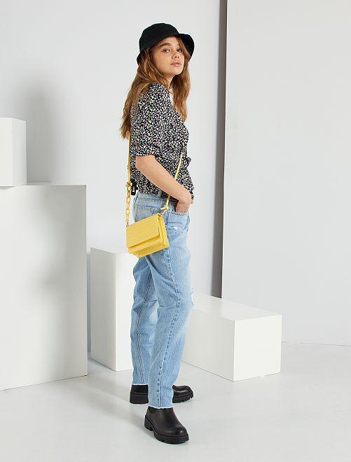 Jeans mom fit eco-sostenibili                             BLU