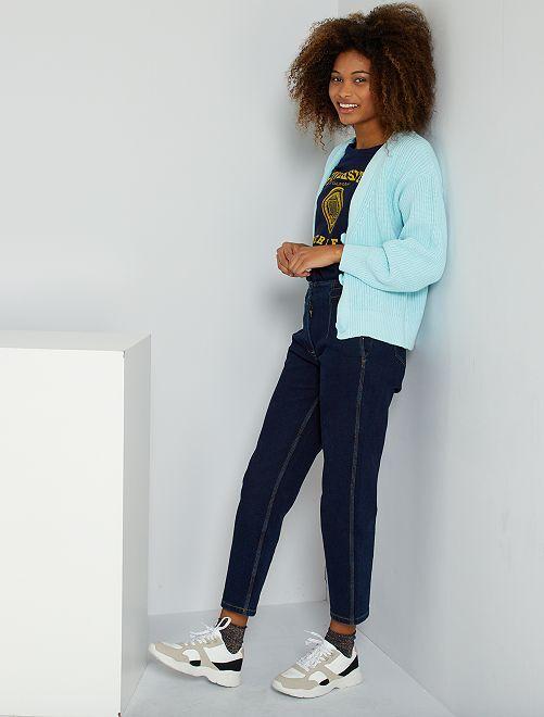 Jeans mom fit in denim                     BLU