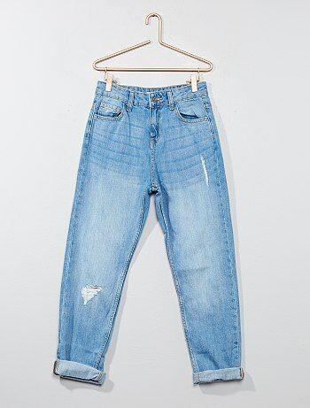 Jeans mom puro cotone - Kiabi