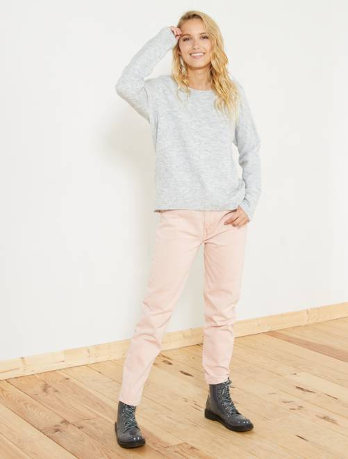 Jeans mom rosa Donna