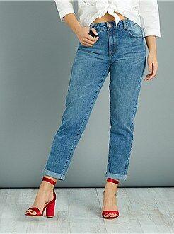 Jeans mom vita alta