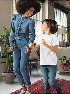 Jeans mom, girlfriend taglia 40 - Jeans Mom vita molto alta