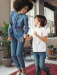 Jeans Mom vita molto alta