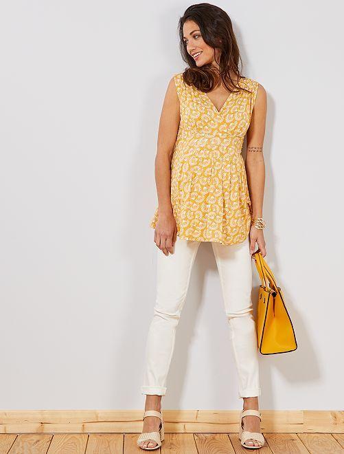 Jeans premaman slim fit                             bianco neve Premaman