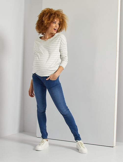 Jeans premaman super skinny L32                                         BLU