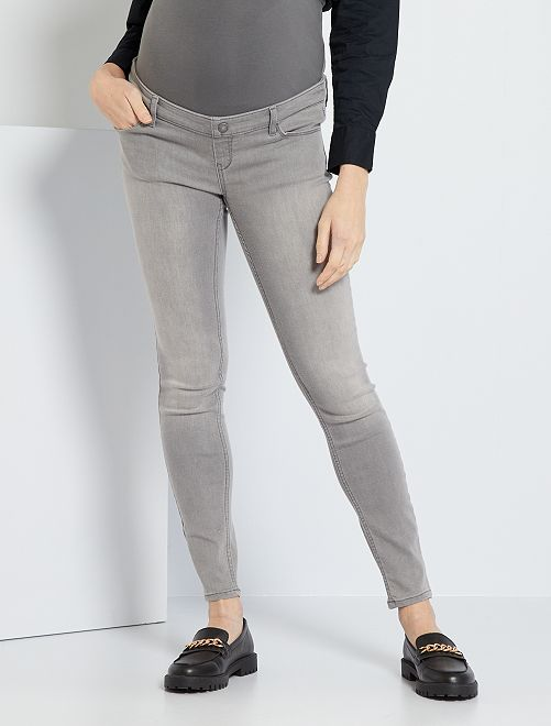 Jeans premaman taglio skinny                                             GRIGIO