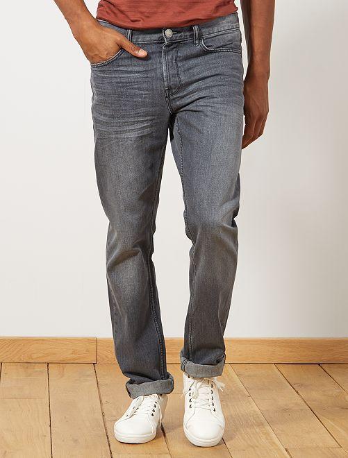 Jeans regular 5 tasche lunghezza US 34                                                                 grigio Uomo