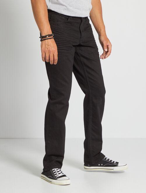 Jeans regular 5 tasche lunghezza US 34                                                                 nero