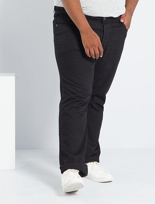 Jeans regular 5 tasche                                                     nero Taglie forti uomo