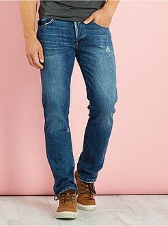 Jeans regular - Jeans regular abrasioni