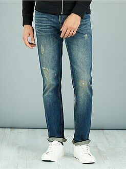 Jeans regular abrasioni