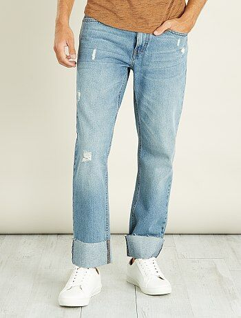 Jeans regular bordi a grezzo - Kiabi