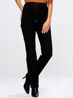 Premaman Jeans regular cintura in maglia