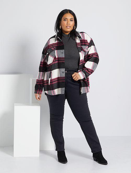 Jeans regular denim stretch lunghezza 75 cm                                                                 denim black Taglie forti donna