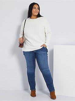 Jeans regular, dritti - Jeans regular denim stretch lunghezza 75 cm