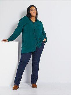 Jeans regular, dritti - Jeans regular denim stretch lunghezza 82 cm