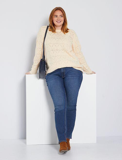 Jeans regular denim stretch lunghezza 82 cm                                                                 stone Taglie forti donna