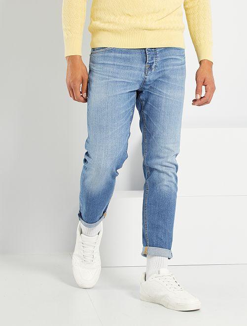 Jeans regular fit eco-sostenibili L30                             BLU