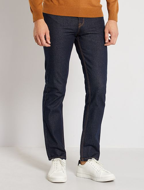 Jeans regular-fit grezzo eco-sostenibile                             brut