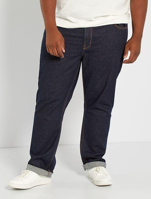 Jeans regular grezzi                             BLU Taglie forti uomo