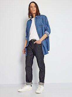 Uomo dalla S alla XXL Jeans regular grezzi