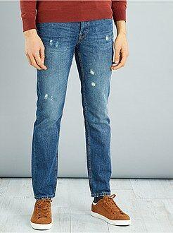 Jeans regular leggere abrasioni - Kiabi