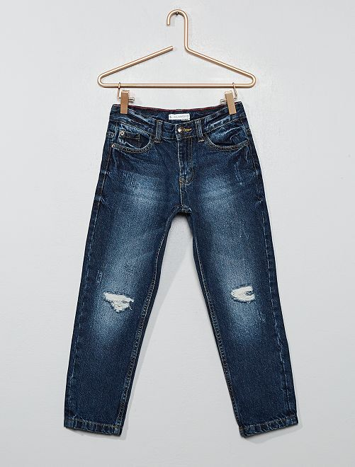 Jeans relaxed destroy                                         BLU