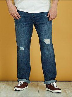 Jeans semi slim abrasioni - Kiabi