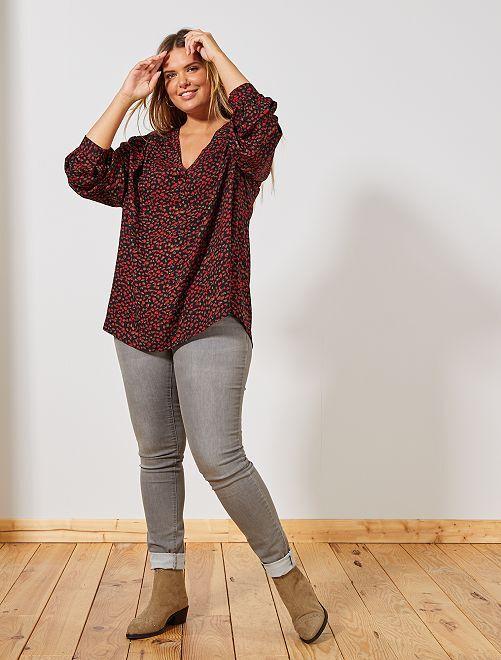 Jeans skinny 5 tasche effetto push up L32                                                                                         GRIGIO Taglie forti donna