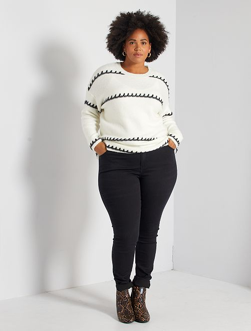 Jeans skinny 5 tasche effetto push up L32                                                                                         nero Taglie forti donna