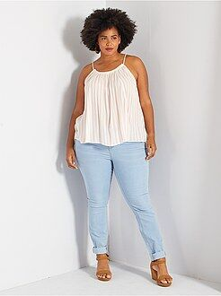 Taglie forti donna Jeans skinny 5 tasche effetto push up L32