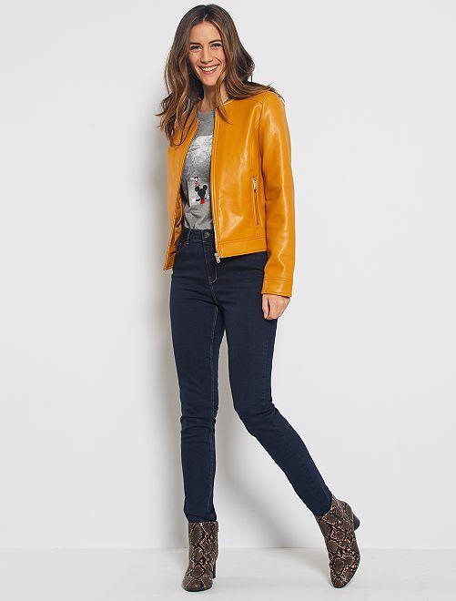Jeans skinny a vita alta lunghezza US 32 eco-sostenibili                                                                 BLU