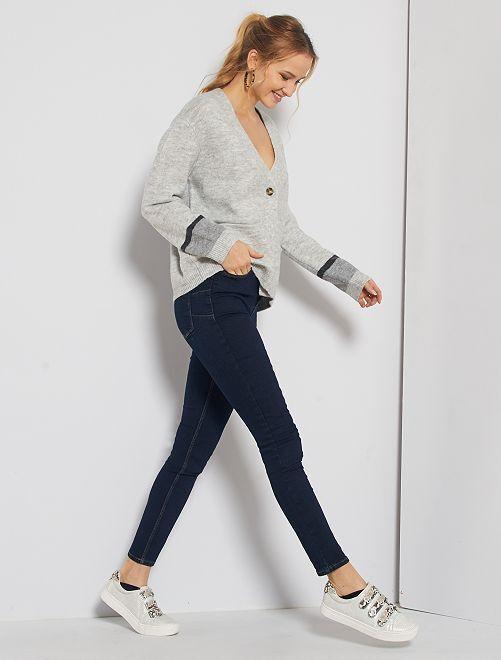 Jeans skinny a vita alta lunghezza US34 eco-sostenibili                                                                 BLU
