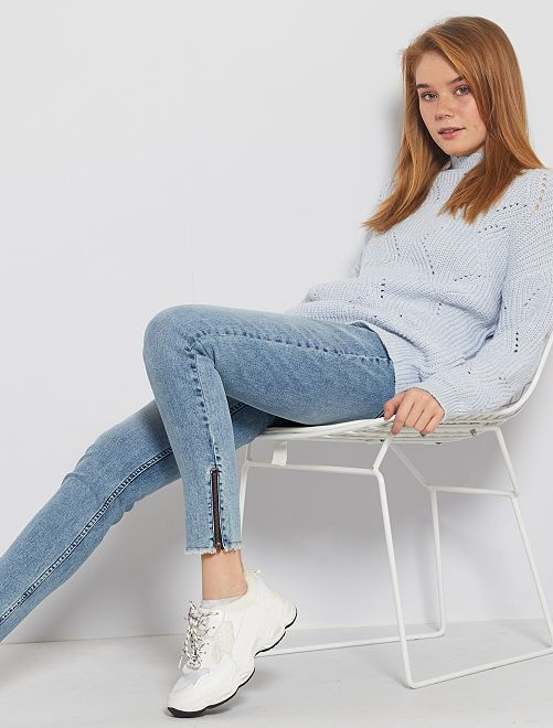 Jeans skinny acid wash                             BLU