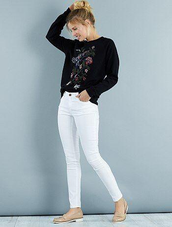 Jeans skinny                     bianco neve Donna